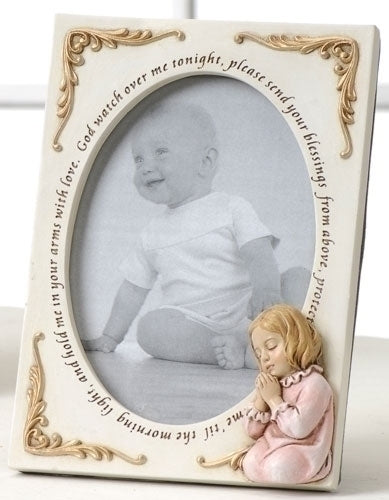 Praying Girl Picture Frame - Catholic Gifts Canada