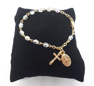 Crystal & Gold-Plated Baby Bracelet