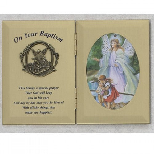 Baptism Frame with Guardian Angel - Catholic Gifts Canada