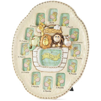 Noah's Ark Baby's First Year Frame - Catholic Gifts Canada