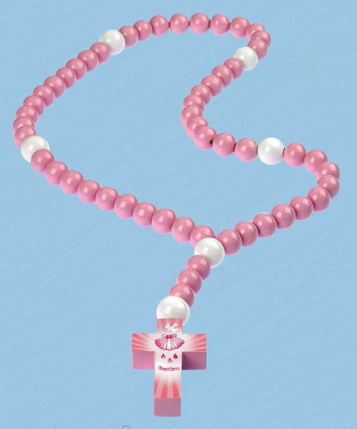 Pink My First Rosary for Baptism