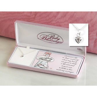 Puff Heart Baby Blessings Necklace