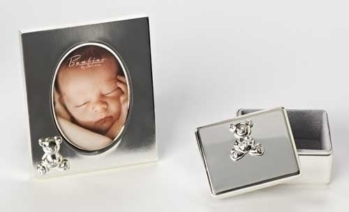 Teddy Bear Frame & Keepsake Box Set
