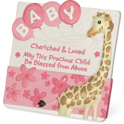 Cherished Blessings Baby Plaque for Girl