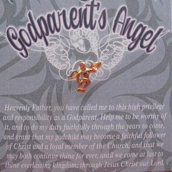 Godparent Angel Pin