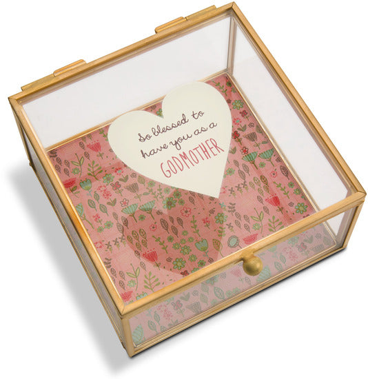 Godmother Glass Keepsake Box