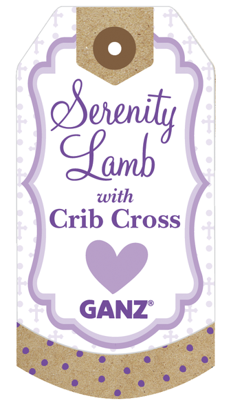 Serenity Lamb with Crib Cross for a Girl