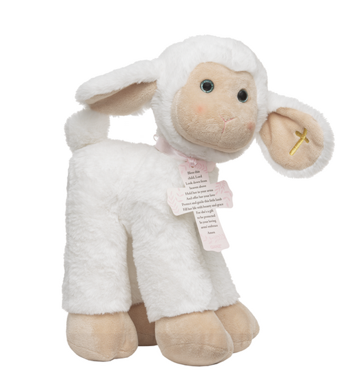 Sweet Faith Lamb - Pink Cross - Catholic Gifts Canada