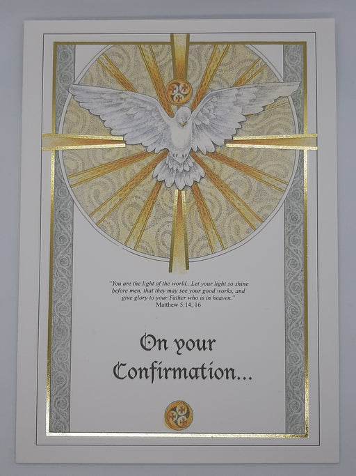 Confirmation Dove Card