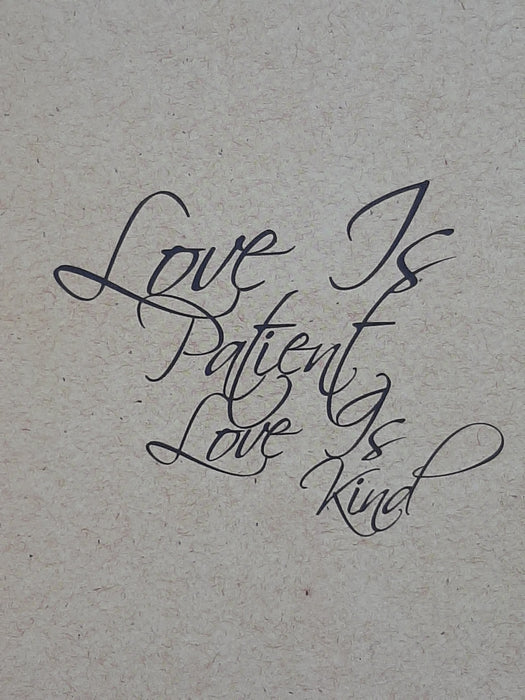 Love Is Patient Card - Catholic Gifts Canada