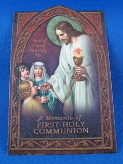Classic First Holy Communion Prayer Card