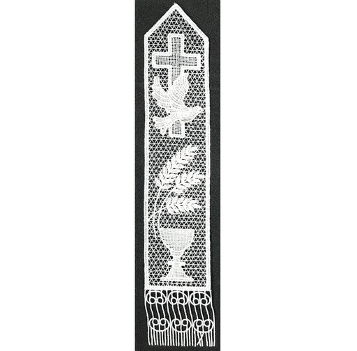Belgian Lace Dove & Chalice Bookmark