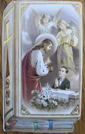 Prayer Card with Gold Foil - Boy