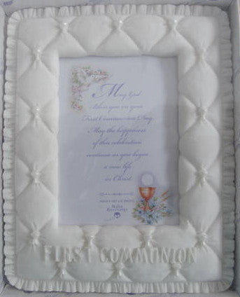 Quilt-Look First Communion Frame