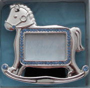 Silver Rocking Horse Frame for Boys - Catholic Gifts Canada