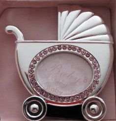 Silver Baby Carriage Frame for Girls - Catholic Gifts Canada