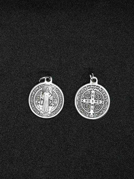Circular Saint Benedict Medal, no chain - Catholic Gifts Canada