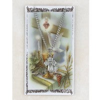 Pewter 4-Way Cross Necklace & Card