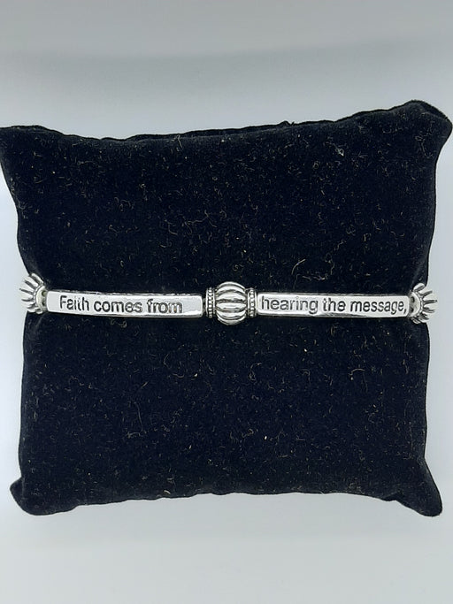 Faith Comes From Hearing the Message Stretch Bracelet - Catholic Gifts Canada