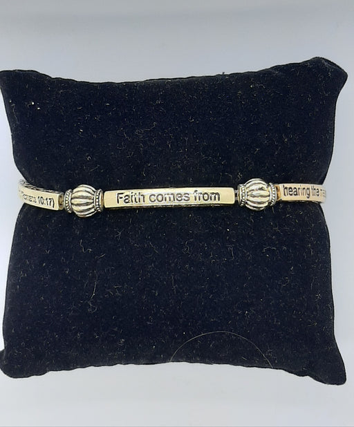 Faith Comes From Hearing Stretch Bracelet - Catholic Gifts Canada