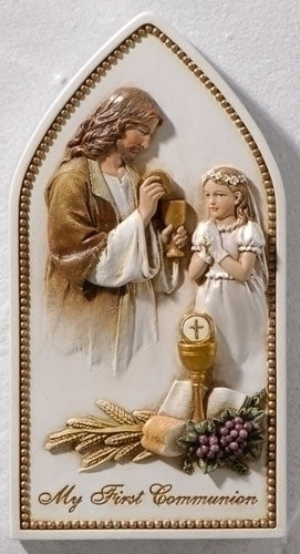 Communion with Jesus Plaque for Girls