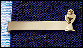 Gold Tie Clip with Chalice