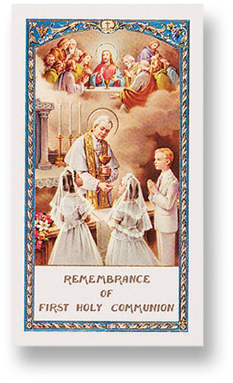 Laminated Communion Prayer Card