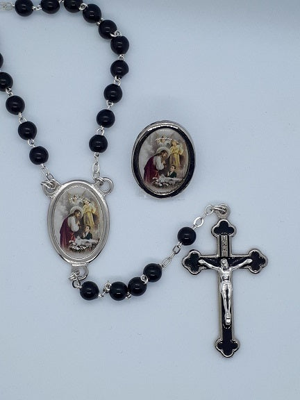 Rosary & Lapel Pin Set for Boys