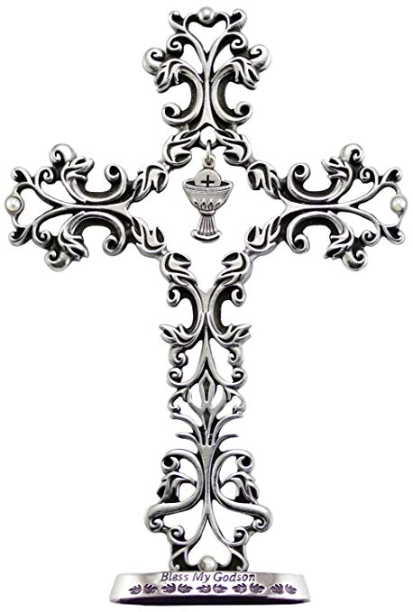 Filigree Communion Cross for Godson