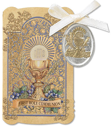 Communion Prayer Folder with Medal