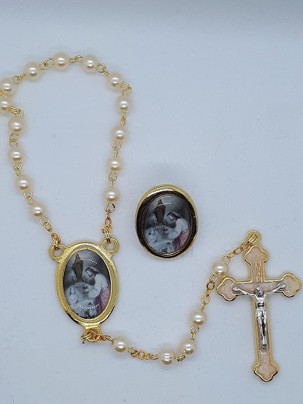 Communion Rosary & Pin Set for Girls