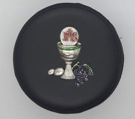 Black Leatherette Rosary/Keepsake Box