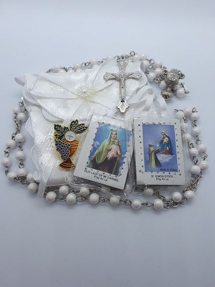Satin Brocade Communion Gift Set