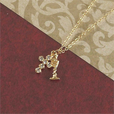 Chalice & Cross Necklace