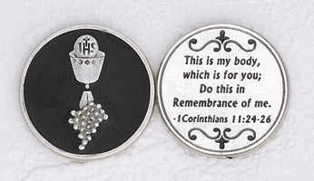 Black Enamel Communion Token