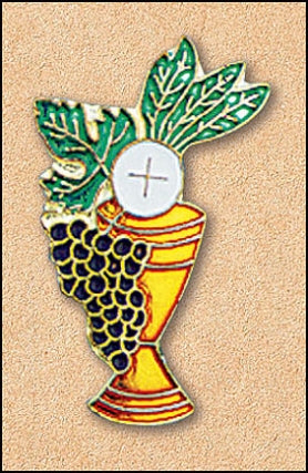 Eucharistic Symbols Lapel Pin