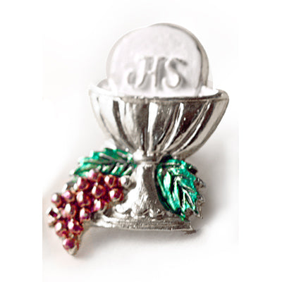 Colourful Silver Communion Pin