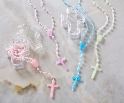 Lavender Cord Rosary with Box