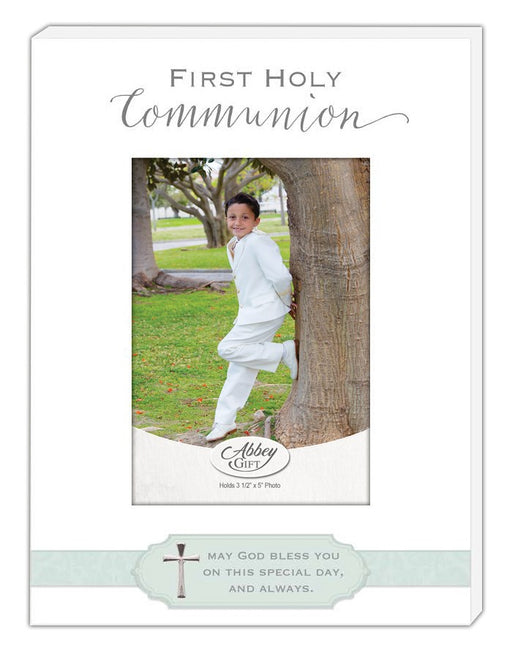 White Communion Picture Frame - Catholic Gifts Canada