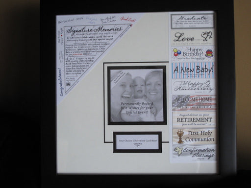 Memories Photo Frame with Signature Mat - Catholic Gifts Canada