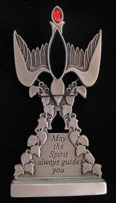 Standing Pewter Confirmation Dove