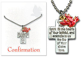 Confirmation Pendant with Cross & Dove
