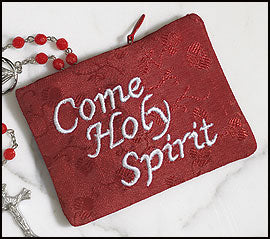 Come Holy Spirit Red Rosary Case