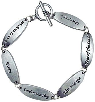 Gifts of the Spirit Pewter Link Bracelet