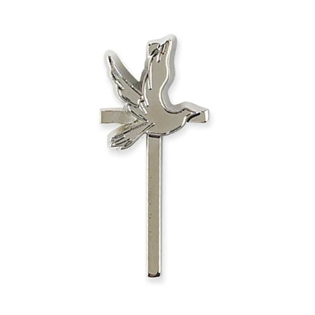Silver Cross Lapel Pin - Catholic Gifts Canada