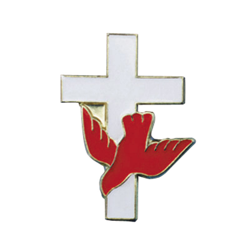 Cross with Dove, Lapel Pin