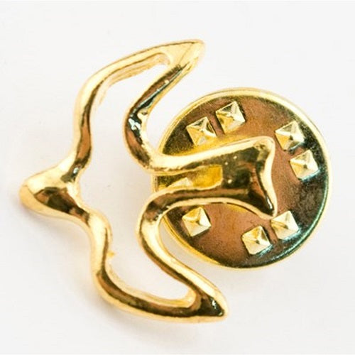 Gold Cut Out Lapel Pin