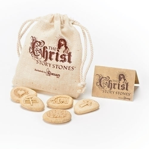 5 Piece Christ Story Pocket Stones