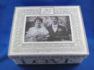 25th Wedding Anniversary Music Box