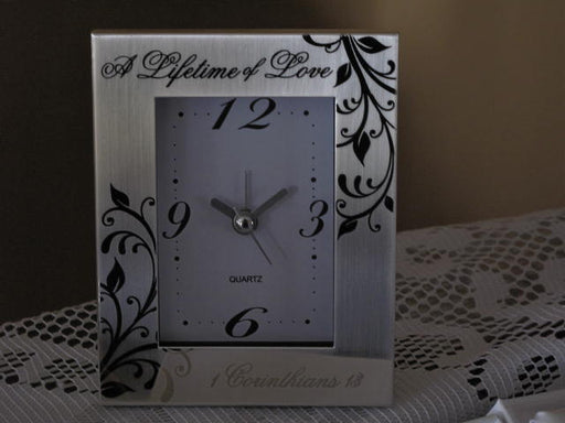 """Lifetime of Love"" Clock"
